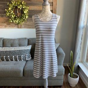 Olivia Rae Striped Sleeveless Swing Dress